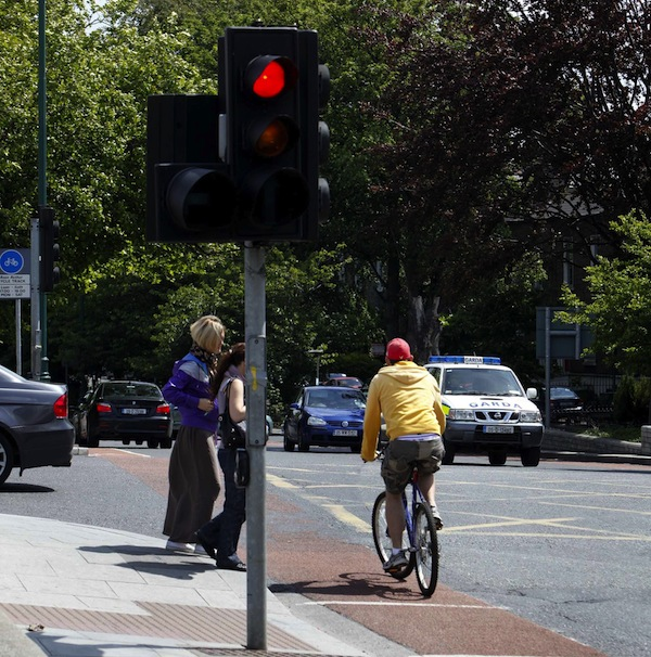 cyclist red light